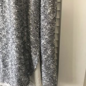 Long Sweater with sequins cream cami underneath.